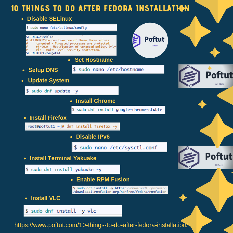 10 Things To Do After Fedora Installation – POFTUT