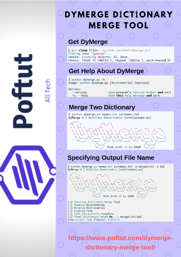 Dymerge Dictionary Merge Tool Infografic