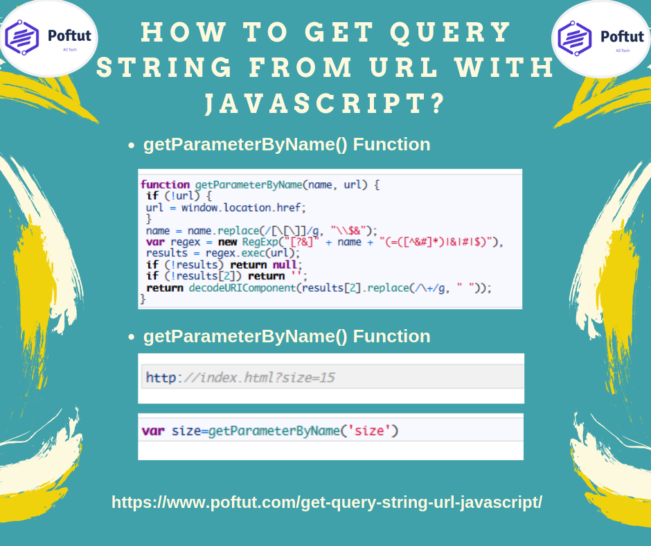 How To Get Query String From Url With Javascript? Infografic