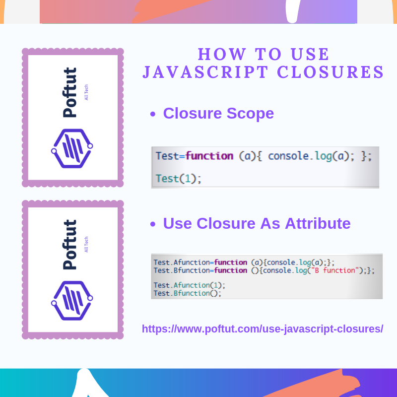 How To Use Javascript Closures Infografic