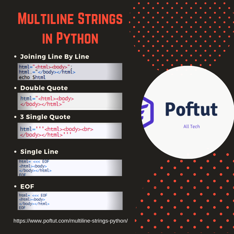 Multiline Strings in Python – POFTUT