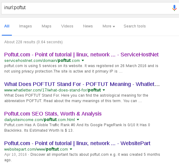 Google Dork or Search Hacking Tutorial – POFTUT