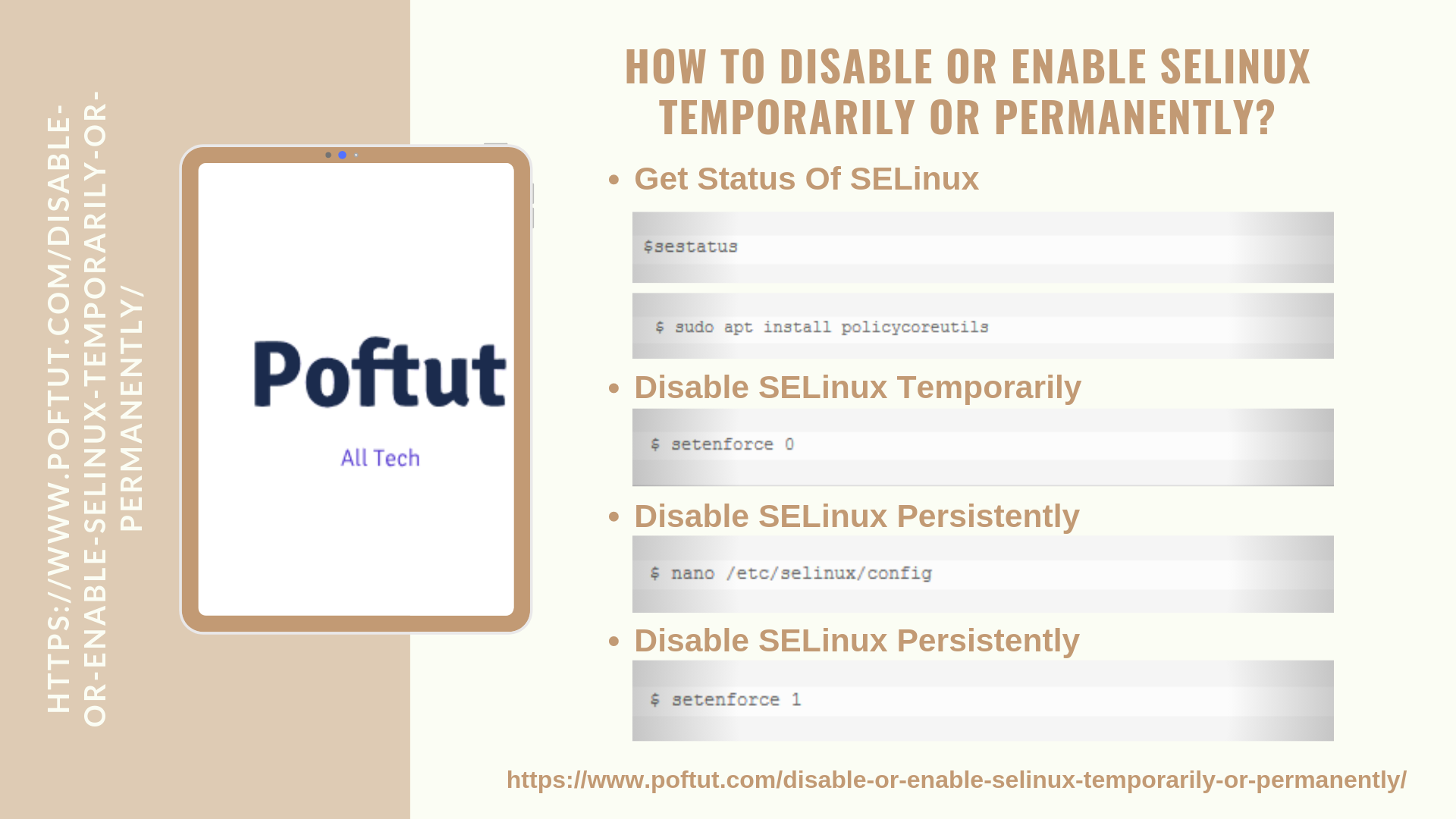 How To Disable or Enable Selinux Temporarily or Permanently