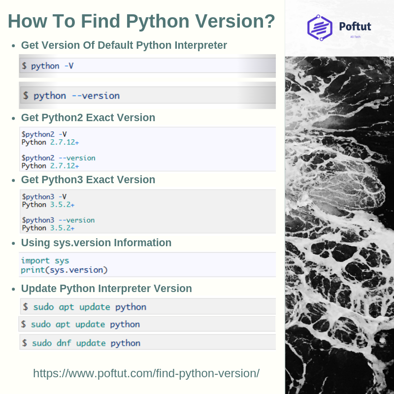 How To Find Python Version? Infografic