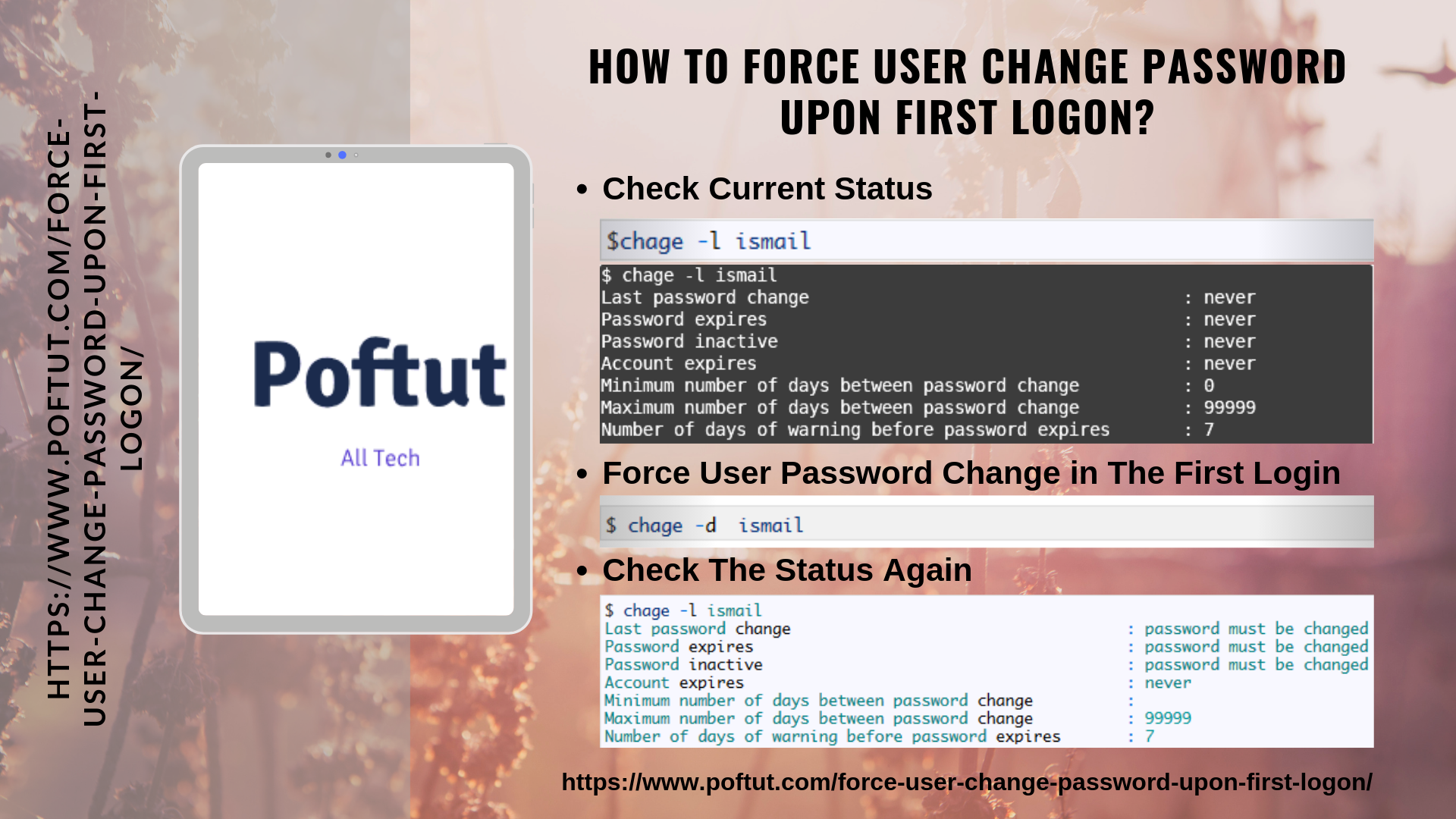How To Force User Change Password Upon First Logon? Infografic