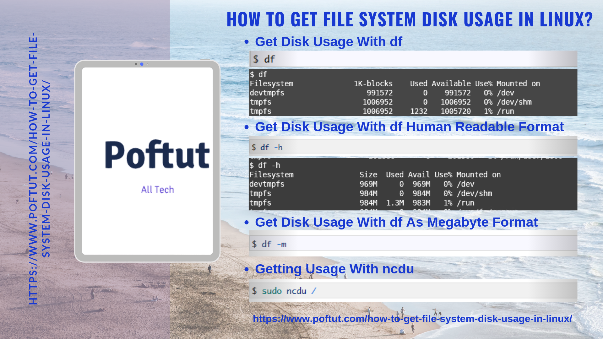 How To Get File System Disk Usage In Linux? Infografic