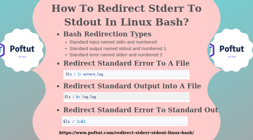 How To Redirect Stderr To Stdout In Linux Bash? Infographic