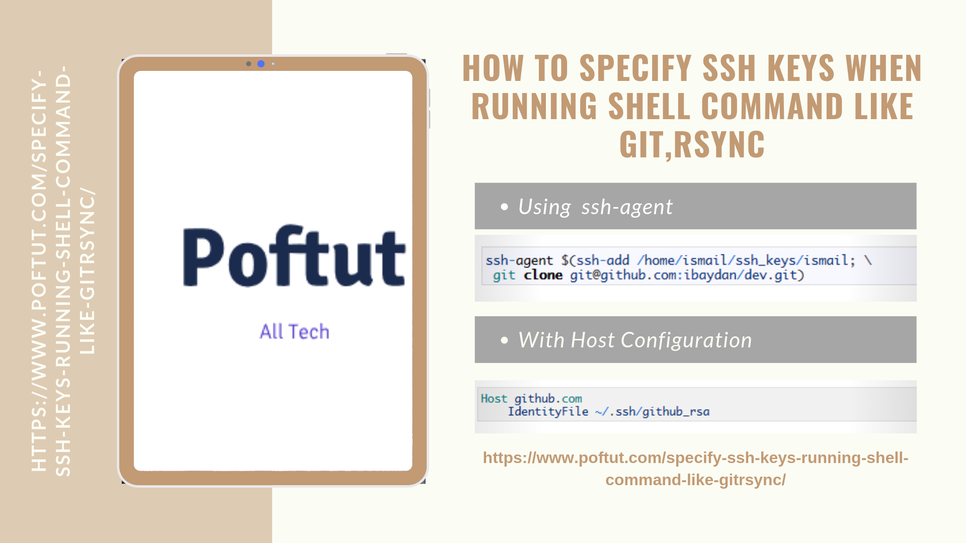 How To Specify Ssh Keys When Running Shell Command Like Git,Rsync