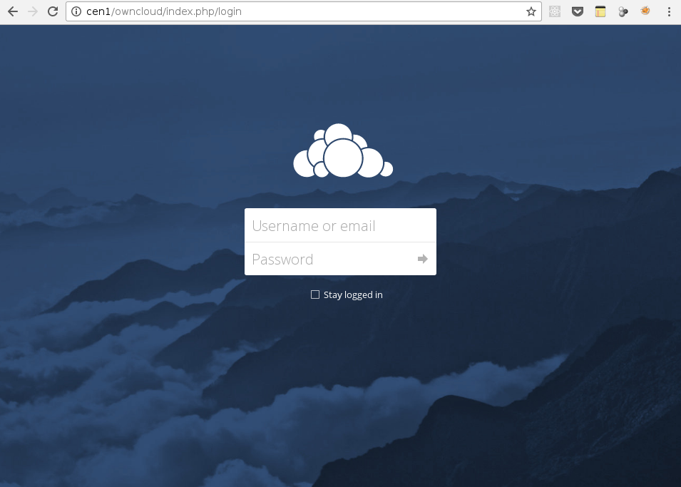 Login OwnCloud Web Interface