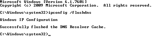 Flush DNS For Windows