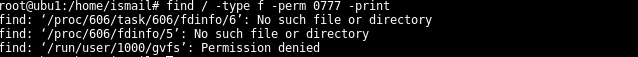 Find Files with 777 Permission