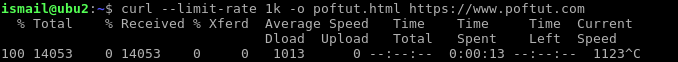 Limit Download Rate
