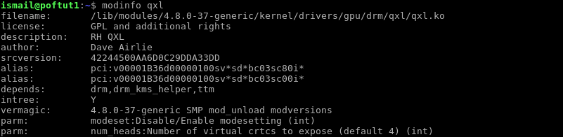 Get Information About Kernel Module