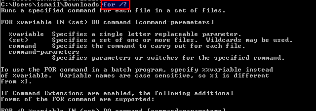 For Loops In Windows With MS-DOS Command Prompt – POFTUT