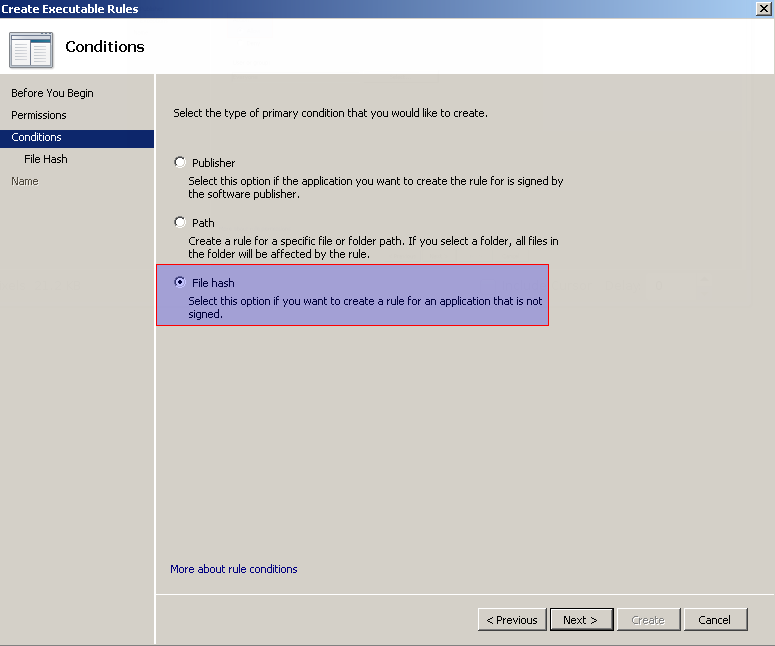 Provide Executable Rule Condition