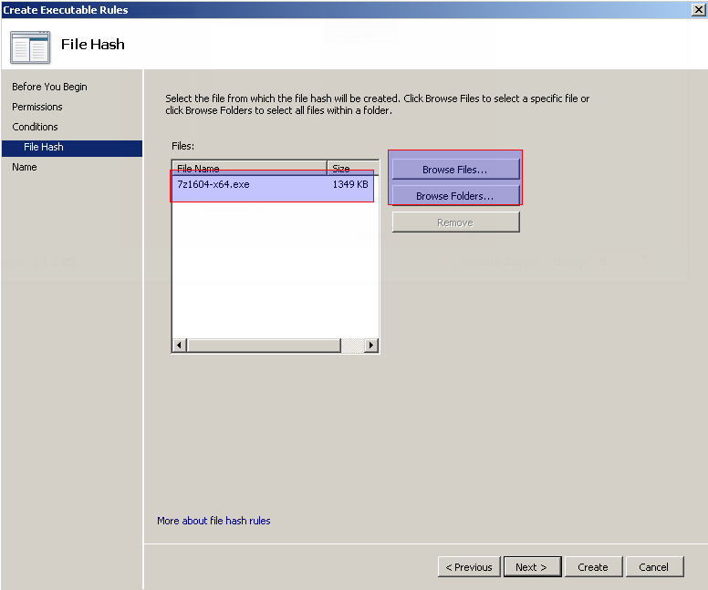 Specify Executable File