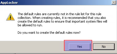 Create Default Rules