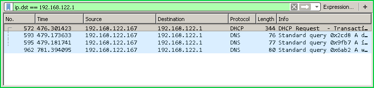 Filter According To Destination IP Address