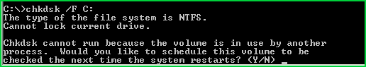 Schedule Check Disk At System Start