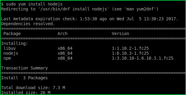 Install Using Yum Package Manager