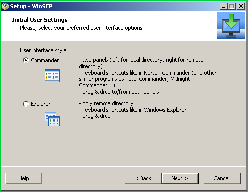 Select User Interface