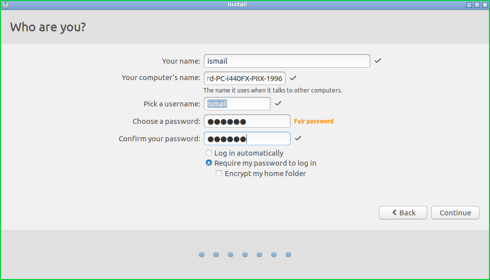 Create User and Set Password