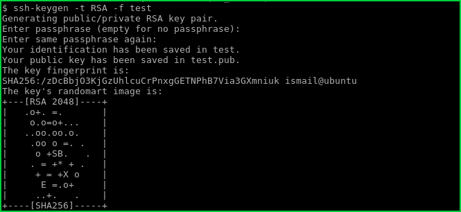 Generate RSA Key To Different Path