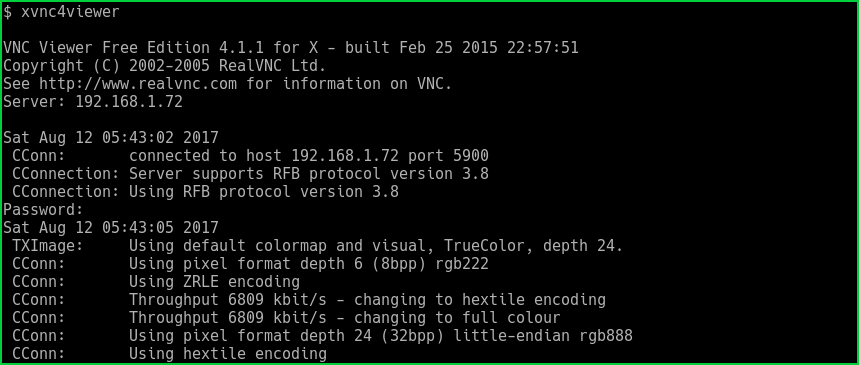 RealVNC or Xvnc4viewer