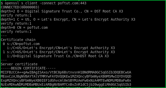 Check SSL Connection and Certificates