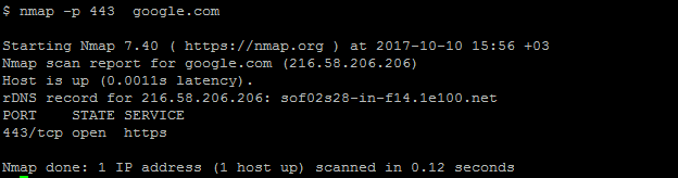 Ping Remote Port with Nmap