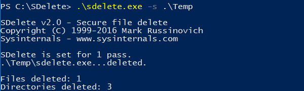 Delete Files and Folders Recursively