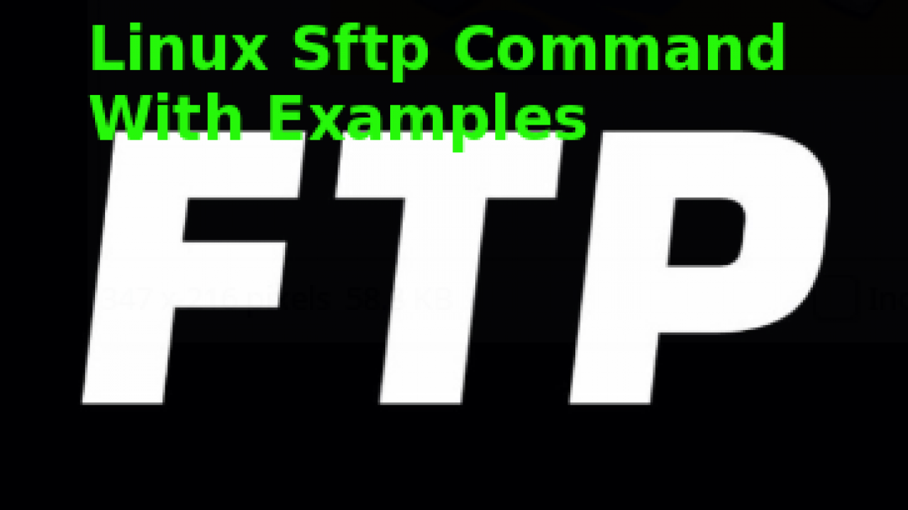 Linux Sftp Command With Examples – POFTUT