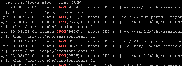 Check Cron Log Lines