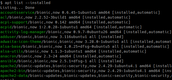 List Installed Packages and Details with apt-get or apt