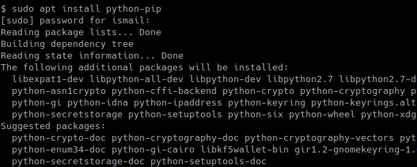 Install pip Package For Python2 In Ubuntu, Debian, Mint, Kali