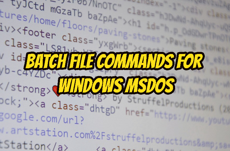 Batch File Commands For Windows MSDOS – POFTUT