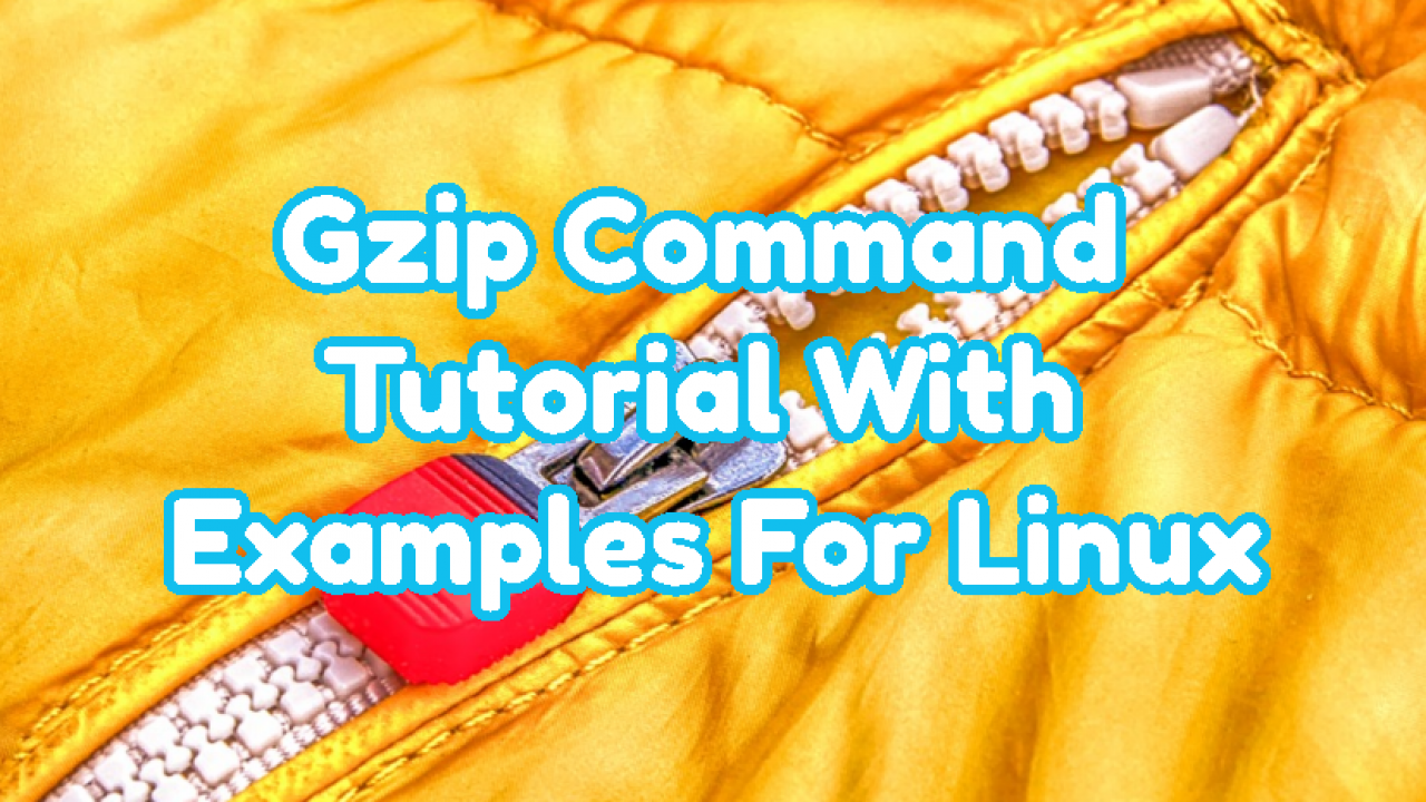 Gzip Command Tutorial With Examples For Linux – POFTUT