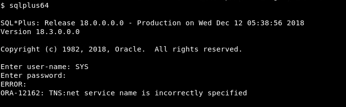"""Oracle """"ORA-12162: TNS:net service name is incorrectly"""