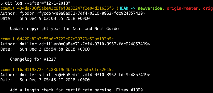 How To List Commit History with Git Log Command with