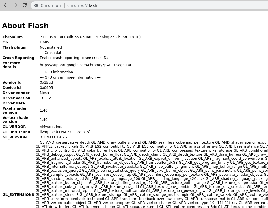 Adobe Flash - chrome://flash