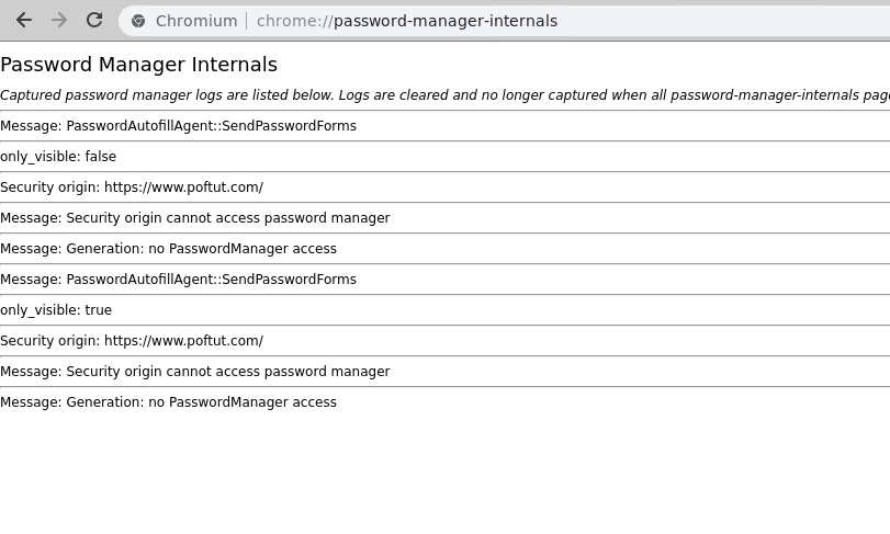 Password Manager - chrome://password-manager-internals