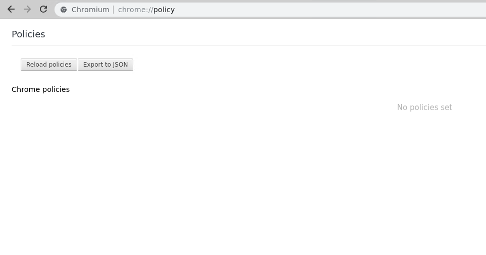 Policy - chrome://policy