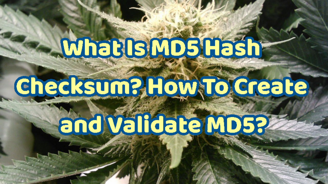 What Is MD5 Hash Checksum? How To Create and Validate MD5? – POFTUT