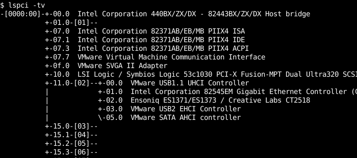 List PCI Devices In Tree Format