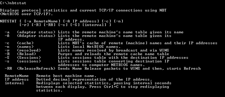 nbtstat Command Tutorial with Examples To List NetBIOS
