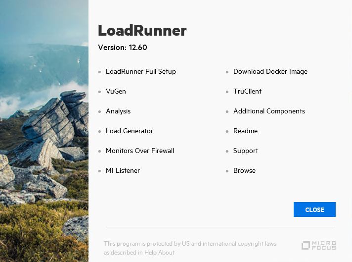 Start LoadRunner Full Setup