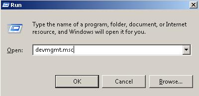 Open From Run Dialog Box