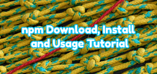 npm Download, Install and Usage Tutorial