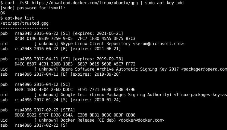 Add Docker Repository GPG Keys