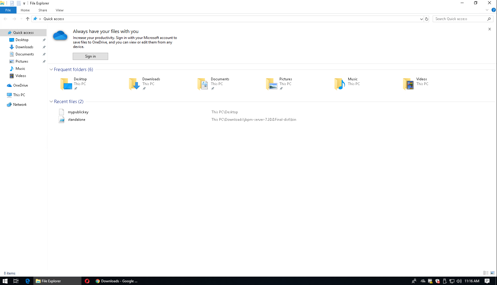 Windows File Explorer GUI